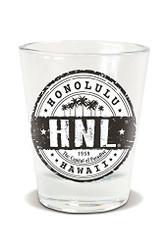 Honolulu Black Shot Glass