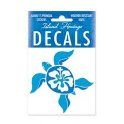 Hibiscus Honu Small Decal Sticker
