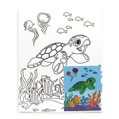 Hawaiian Childrens Canvas & Paint Set Honu Turtle