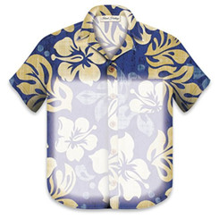 Aloha Shirt Notepad With Magnet Pareo Navy