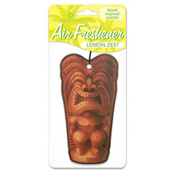 Automobile Car Air Freshner Happy Tiki Lemon Zest Scent 2 Packs