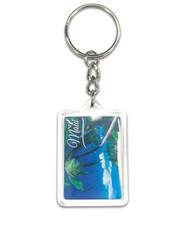 Hawaii Acrylic Foil Keychain Maui Seaside Palm Ron Dahlquist