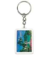Hawaii Acrylic Foil Keychain Diamond Head Ann Cecil