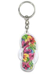 Hawaii Acrylic Foil Keychain Paradise Hibiscus