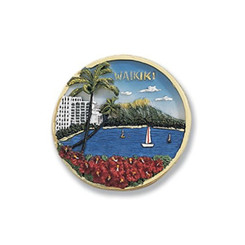 Hand Painted Waikiki Magnet