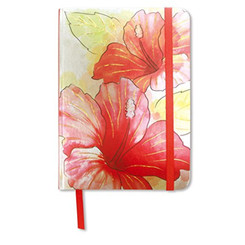 Foil Notebook Hibiscus Watercolor Large