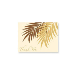 Palm Frond Cream Mahalo Cards 8 Pack