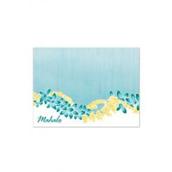 Puakenikeni Lei Mahalo Cards 10 Pack