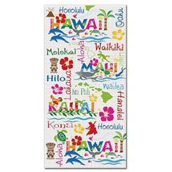 Hawaiian Adventures Beach Towel