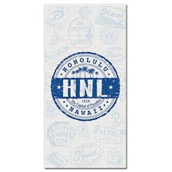 Honolulu Hawaii Blue Beach Towel