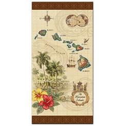 Island Of Hawaii Tan Beach Towel