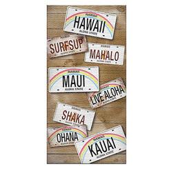 Hawaii Beach Towel License Plates