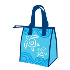 Hawaiian Honu Turtle Swirl Small Insulated Reusable Lunch Bag