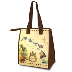 Small Non-Woven Insulated Lunch Bags Islands Of Hawaii Tan