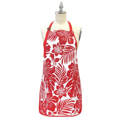 Aprons: Hibiscus Floral Red