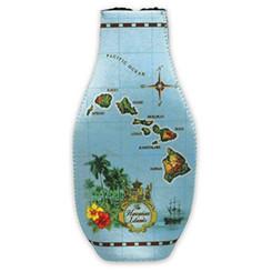 Islands Of Hawaii Blue Bottle Cooler