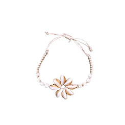 Hemp Cord Bracelet Sigay Flower Shell Macrame