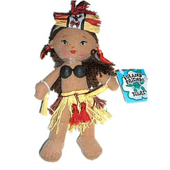 """8.5"""" Soft Tahitian Dancer Doll Tiare"""