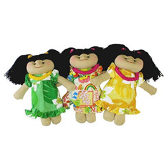 Hawaii Muumuu Soft Cloth Doll