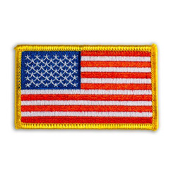 Hawaiian Iron-On Embroidery Applique Patch American Flag Red, White