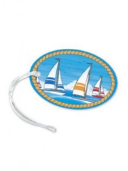 Luggage Tag Smooth Sailing Blue, Gold