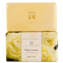 Hawaiian Island Bath & Body French Milled Soap Pikake Jasmine Fragrance 6 Bars