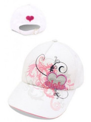 Hat Heart Of Aloha White, Pink
