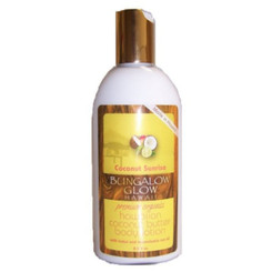Hawaiian Bungalow Glow Premium Organic Coconut Butter Body Lotion 2 Bottles Sunrise