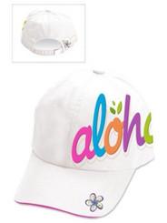 Hat Bold Aloha White, Pink, Blue