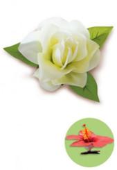 Gardenia Clip Silk Flower White