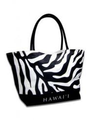 Tote Beach Bag Black, White