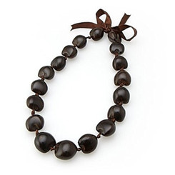 Choker 18 Inch 18 Kukui Nuts Brown