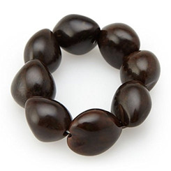 Bracelet 8 To 9 Kukui Nuts Brown