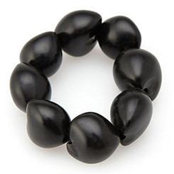 Bracelet 8 To 9 Kukui Nuts Black