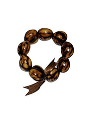 Bracelet 8 To 9 Kukui Nuts Tiger