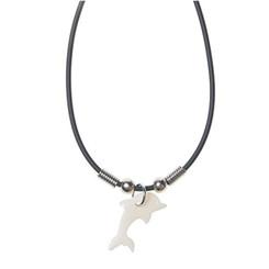 Rubber Cord Necklace Bone Dolphin