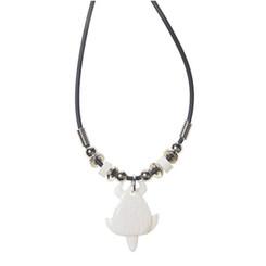 Rubber Cord Necklace Bone Turtle Honu