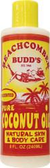 Hawaiian Beachcomber Budd Pure Coconut Oil 8 Oz. Unscented 8 Bottles