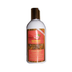 Hawaiian Bungalow Glow Premium Organic Coconut Butter Body Lotion 4 Bottles Red Guava & Citrus