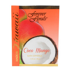 Hawaiian Bath Crystals Forever Florals Coconut Mango 4 Pack