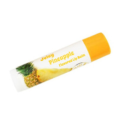 Hawaii Forever Florals Flavored Lip Balm Stick Juicy Pineapple 4 Pack