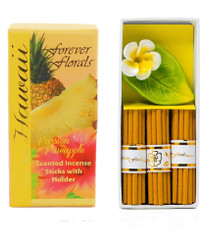 Hawaiian Forever Florals Incense Gift Box 4 Sets Passion Pineapple