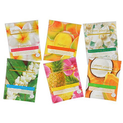 Hawaii Forever Florals Moisturizing Facial Mask Sampler Pack 4 Sets