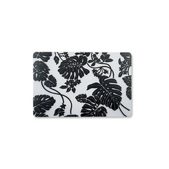 Monstera Black Translucent Placemat Set of 4