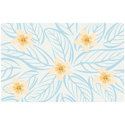 Translucent Placemat Plumeria Set Of 4