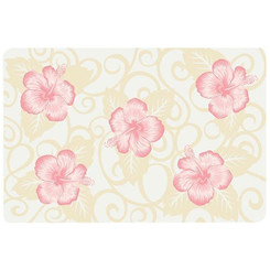 Translucent Placemat Pink Hibiscus Set Of 4
