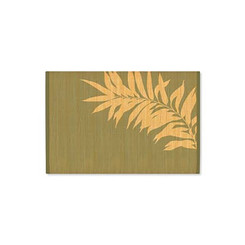 Hawaiian Style Bamboo Placemat Swaying Palm Set Of 4