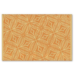 Hawaiian Style Bamboo Placemat Tapa Terracotta Set Of 4