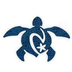 Hawaiian Decal Blue Honu Turtle