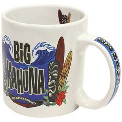 2 Pack Hawaiian Stoneware Coffee Mugs 20 oz. Big Kahuna